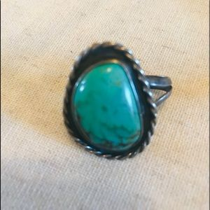 Jewelry - Authentic Navajo Sterling Silver + Turquoise Ring
